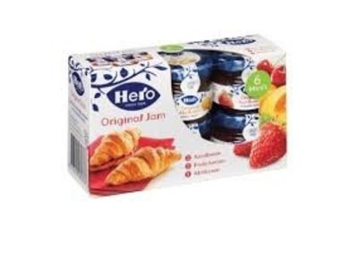 Hero Hero Mini jars Original jams 6 assorted (6 x 1 oz)