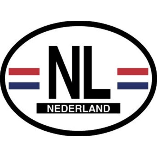 NL Oval Car Sticker