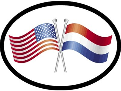 NL / USA Friendship Car Sticker