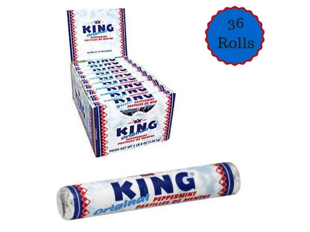 King King Peppermint Rolls Box 36 ct