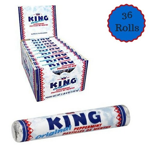 King King Peppermint Rolls Box 36 ct