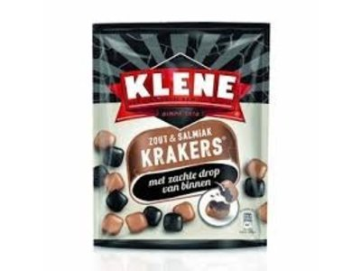 Klene Klene Krakers Salty & Salmiak Licorice 7 oz bag