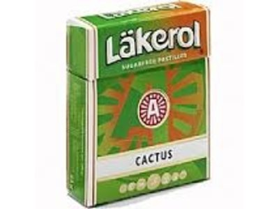 Lakerol Sugar Free Cactus Licorice Box
