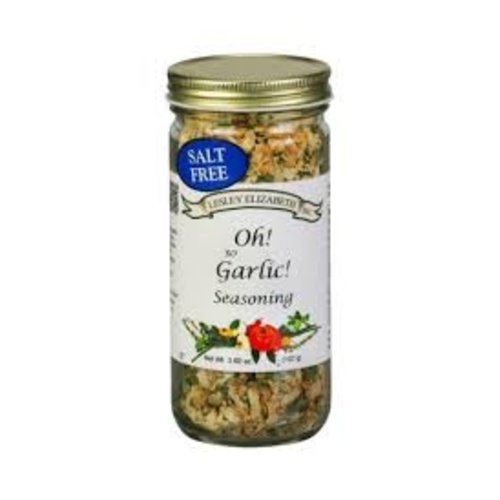 Lesley Elizabeth Lesley Oh So Garlic Seasoning blend 3.6 oz shaker