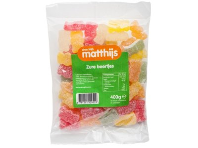Matthijs Matthijs Sour Gummy Bears 14 oz Bag 400g