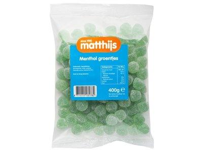 Matthijs Matthijs Menthol Groentjes 14 oz Bag 400 g