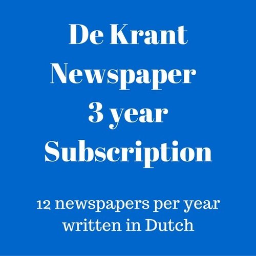 De Krant Dutch language newspaper 2 year subscription