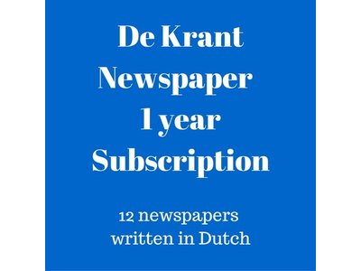 De Krant Dutch language newspaper 1 year subscription