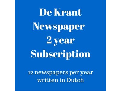 De Krant Dutch language newspaper 3 year subscription