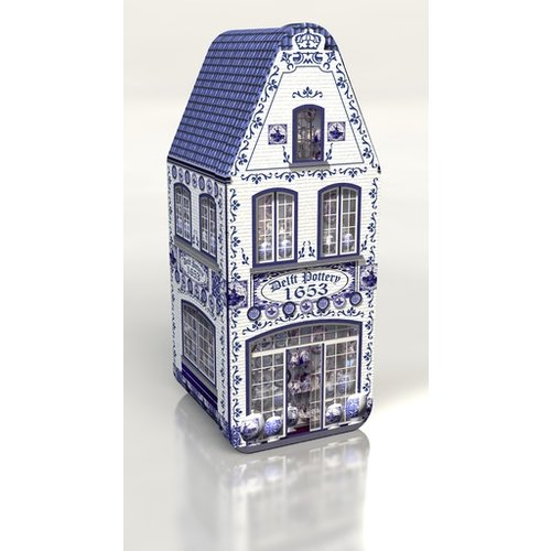 Delft Blue House Tin