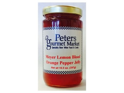 Peters Meyer Lemon Blood Orange Pepper Jelly 10.5 oz jar