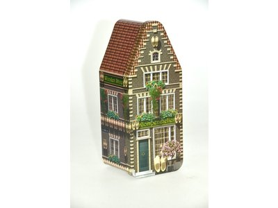 Peters Klompenhuisje - Wooden shoe store empty tin