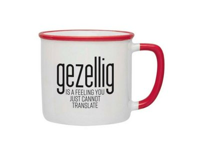 Gezellig is a feeling Mug - Red