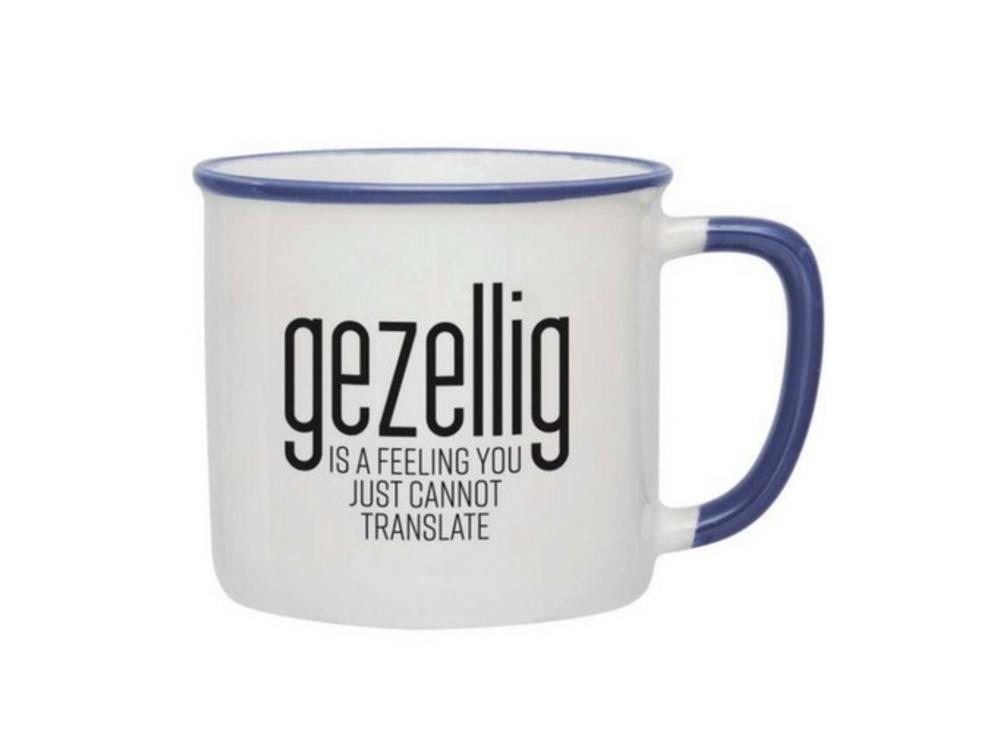 Gezellig is a feeling Mug - Blue