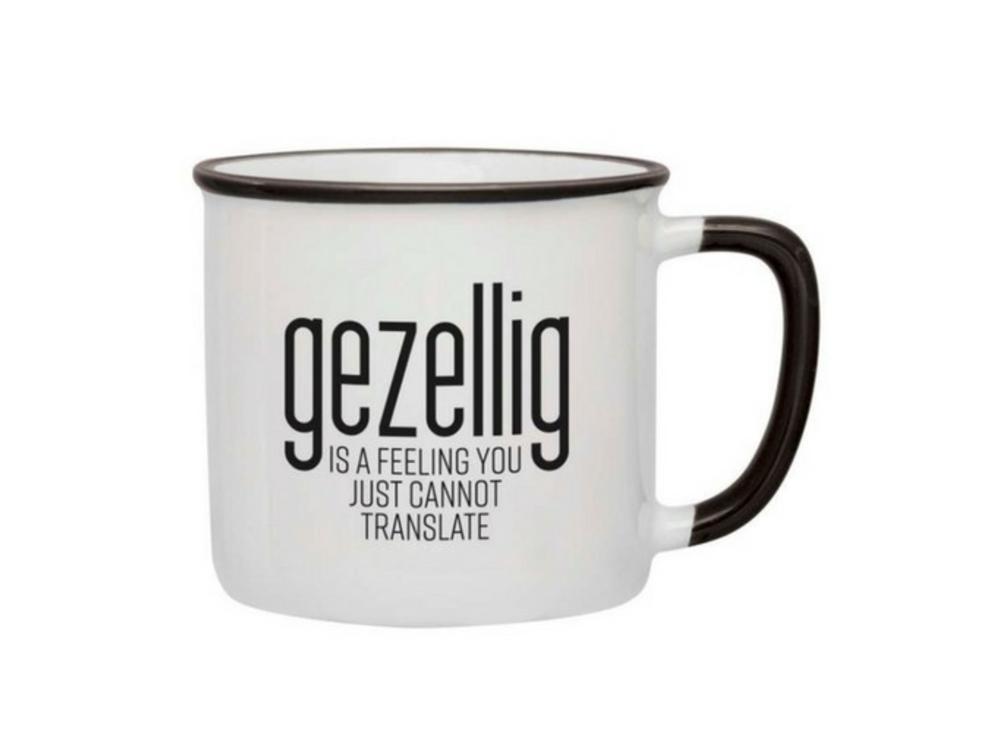 Gezellig is a feeling Mug - Black