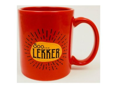 Soo Lekker Coffee Mug Red