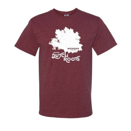 Michigan Grown Dutch Roots T shirt XL Maroon