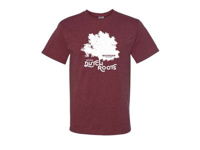 Michigan Grown Dutch Roots T shirt Large Maroon