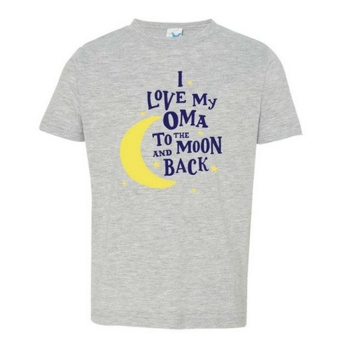 I Love My Oma to the Moon and Back T shirt 3T Heather