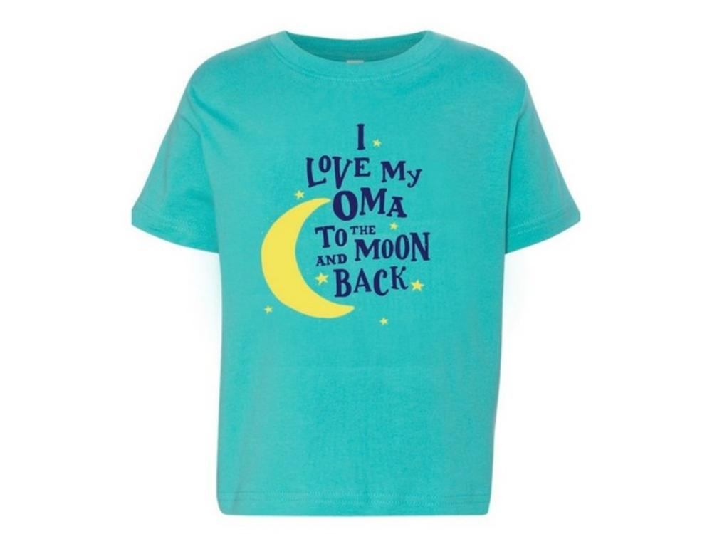 I Love My Oma to the Moon and Back T shirt 3T Caribbean