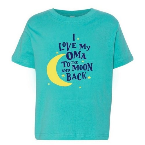 I Love My Oma to the Moon and Back T shirt 4T Caribbean