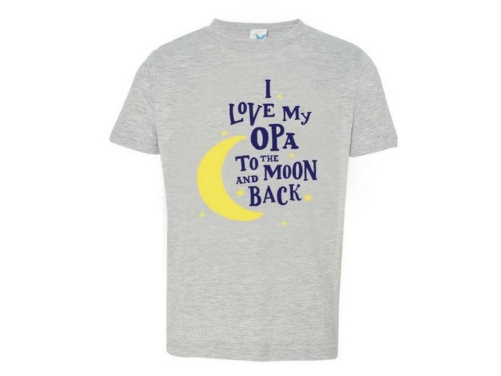 I Love My Opa to the Moon and Back T shirt 3T Heather
