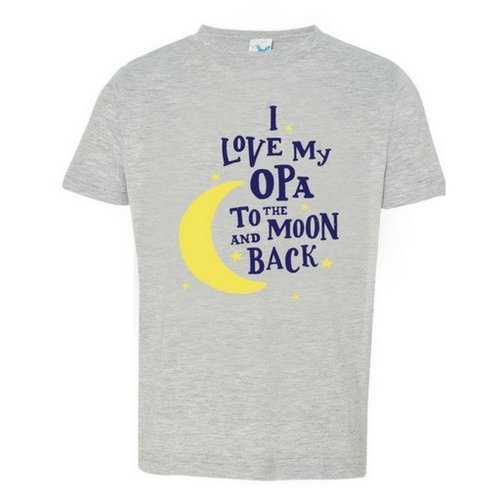 I Love My Opa to the Moon and Back T shirt 4T Heather