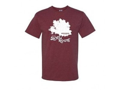 Michigan Grown Dutch Roots T shirt small Vintage Maroon