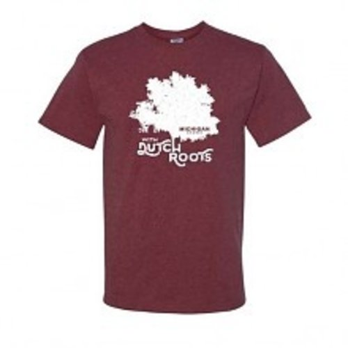 Michigan Grown Dutch Roots T shirt MEDIUM Vintage Maroon