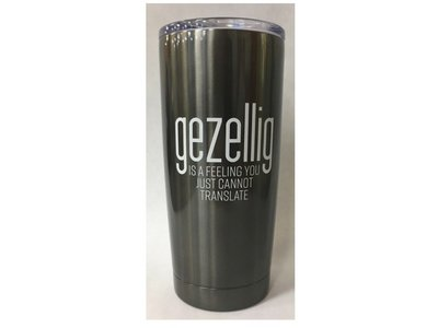Stainless Steel Travel Mug Gezellig is a feeling