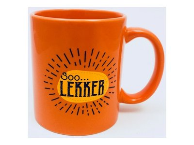 Soo Lekker Coffee Mug - Orange