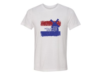 Born in USA with Dutch Descent White T-Shirt Adult-Small