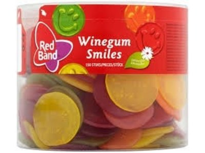 Red Band Red Band Winegum Smiles Tub 150 count