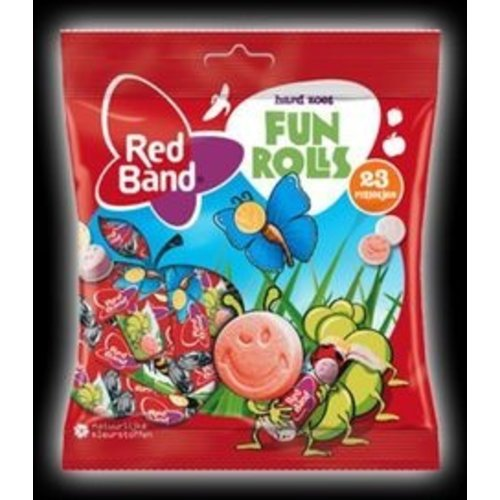 Red Band Red Band Mixed Fun Rolls 184g dated dec 2018