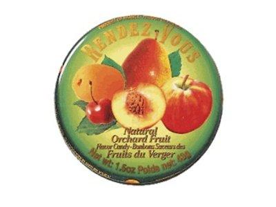 Rendez Vous Rendez Vous Orchard Fruit Candy 1.5oz Tin 12/cs