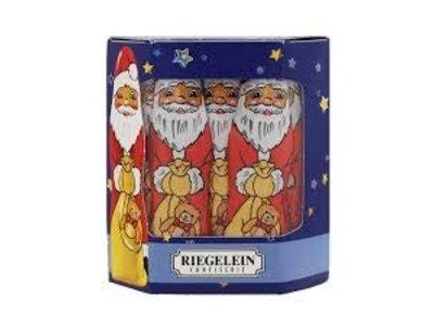 Riegelein Riegelein Solid Santa's in 10 Pack Windowed Gift Box