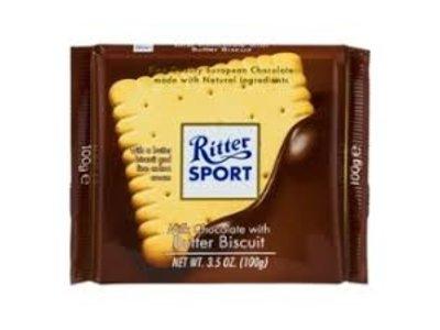 Ritter Ritter Mk/Choc Butter Biscuit 3.5 Oz