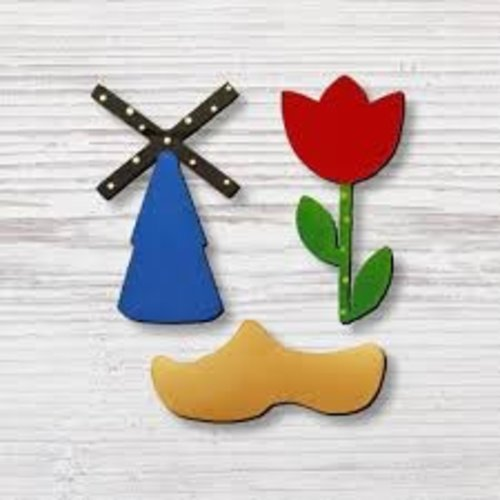 Roeda Studio Roeda Studio Dutch magnets 3 pack Tulip Mill & wooden shoe