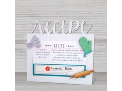 Roeda Studio Roeda Recipe easel with baking magnets white