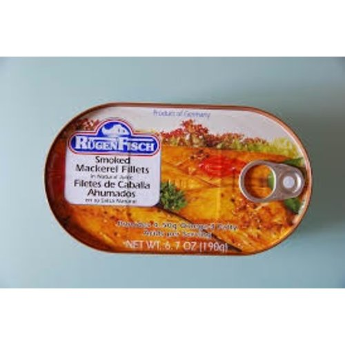 Rugenfisch Rugenfisch Smoke Makerel Fillets Tin 6.7 oz