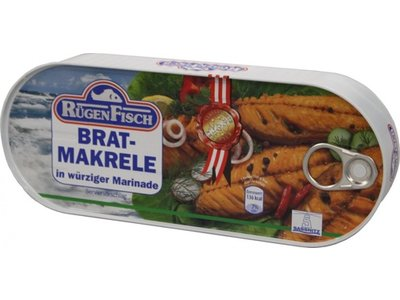 Rugenfisch Rugenfisch Fried Mackerel Fillet 17 oz tin