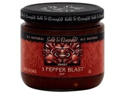 Sable & Rosenfeld Sable & Rosenfeld 3 Pepper Blast Appetizer 12oz Jar 6/cs