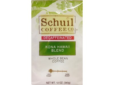 Schuil Schuil Kona Hawaii Medium Blend Coffee12oz Decaf