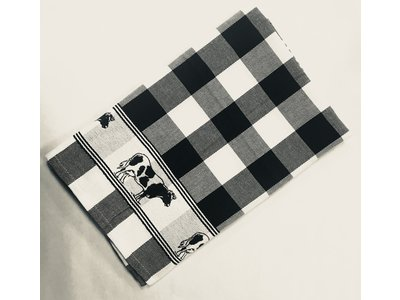 Twenstse Tea Towel Cow Black 25x23 inch