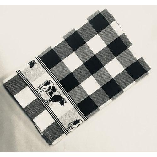 Twentse Tea Towel Cow Black 25x23 inch