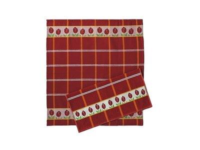 Twenstse Tea Towel Tulip Red 25x23 inch