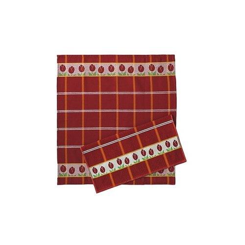 Twentse Tea Towel Tulip Red 25x23 inch