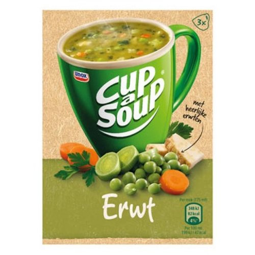 Unox Unox Instant Pea Cup a Soup 3 packets