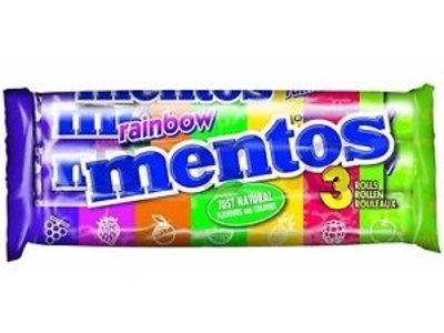 Van Melle Van Melle Mentos Rainbow 3 Pack Rolls