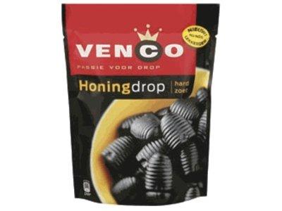 Venco Venco Honey Licorice Drops 235g Bag